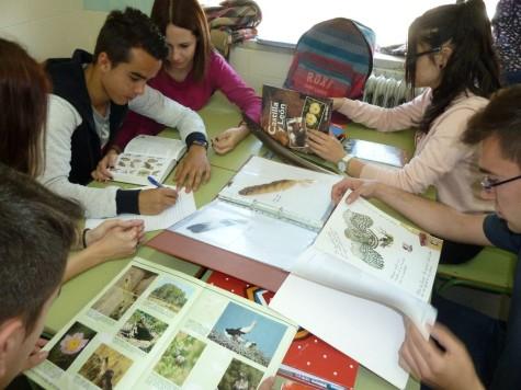 Alumnos del IES Vía de la Plata en su Semana Cultural .