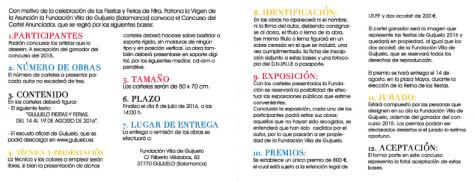 Bases del concurso del cartel anunciador de las fiestas 2016