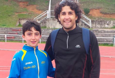 Javier Montero junto a David Alejandro. Foto V.S.