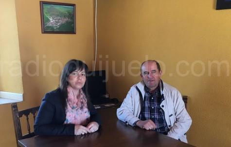 La concejala de Pedanías, Mº Jesús Moro junto al alcalde de Palacios, Juan Ingelmo