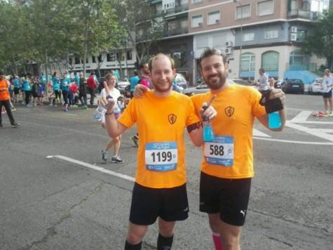 Jorge Rodríguez y Manuel Torres. Foto club atletismo Guijuelo.