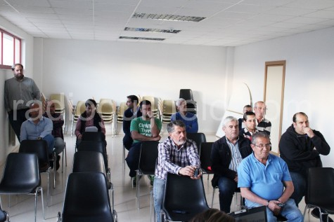 Socios asistentes a la Asamblea del CD Guijuelo.