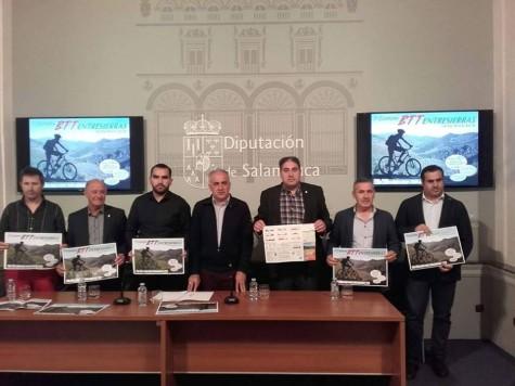 Presentación de la 1ª carrera BTT de Entresierras. Foto Diputación de Salamanca.