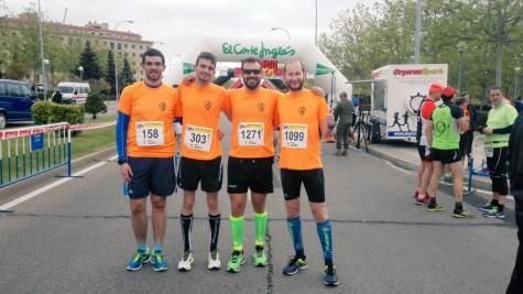 Atletas del club atletismo Guijuelo. Foto club atletismo Guijuelo