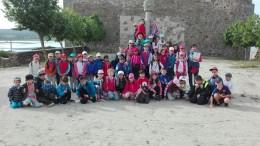 Alumnos del Miguel de Cervantes en una salida a Salvatierra. Foto Miguel de Cervantes
