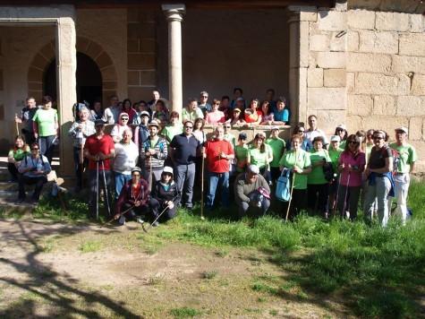 Participantes de la Ruta Jacobea de Santiago de Collado a San Juán. Foto I.S.C
