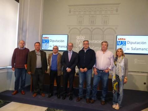 Presidentes de los grupos de Acción Local en La Salina. Foto Diputación de Salamanca