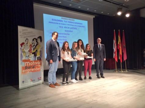 Ganadoras del concurso Motivar para Emprender. Foto Diputación de Salamanca