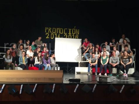 Alumnos de Segundo Bachillerato del IES Vía de la Plata
