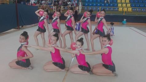 Equipo de gimnasia rítmica de Guijuelo.