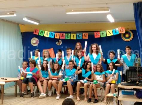 Graduación de 6º de Primaria en el Miguel de Cervantes.
