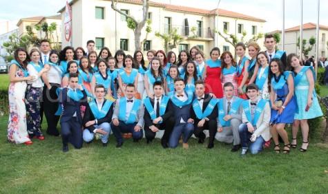 Estudiantes de Guijuelo en la Graduación de Bachillerato 2016.