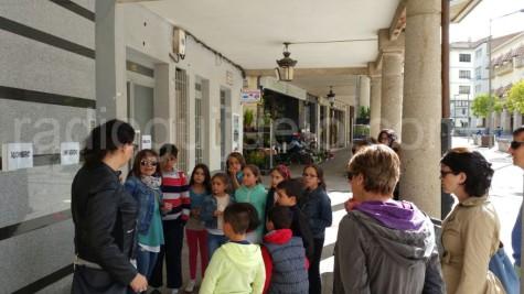 Actividad lecturas en playeras en la plaza Mayor