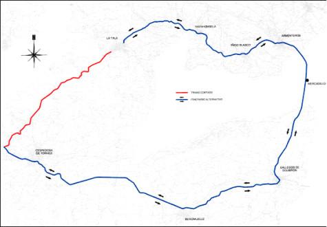 Mapa carretera La Tala