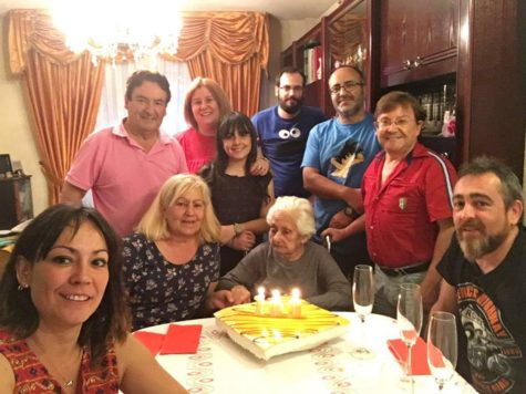 Victoria Berrocal en su 100 cumpleaños. Foto A.G.