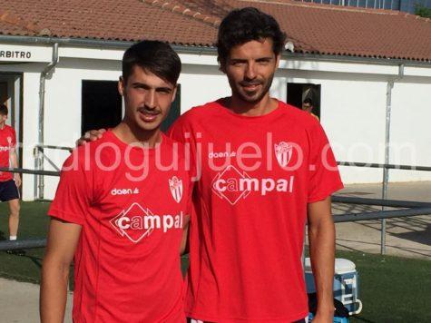 Dimas y Ochoa en su primer día de trabajo