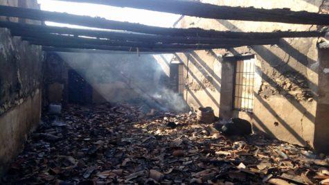 Incendio Montejo. Foto Bomberos Guijuelo.