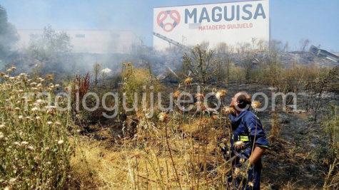 Incendio en la zona de Maguisa