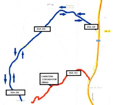 Mapa corte carretera