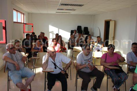 Reunión de peñas en el Centro Cultural.
