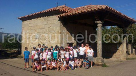 Participantes de las semicolonias de excursión.