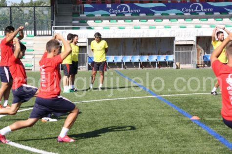 Sesión entrenamiento CD Guijuelo