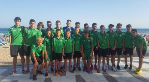 Conjunto Cadete del C.D.Guijuelo en Benidorm. Foto Escuela de Fútbol C.D. Guijuelo D.O.