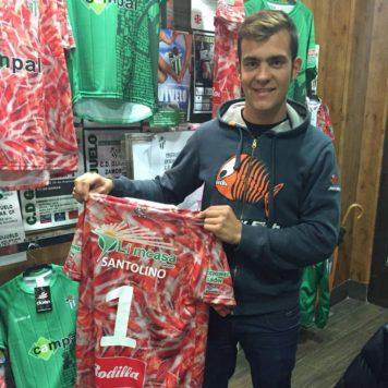 Lorenzo Sasntolino con la camiseta del Guijuelo. Foto L.S.