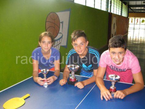 Ganadores de tenis mesa Infantil.