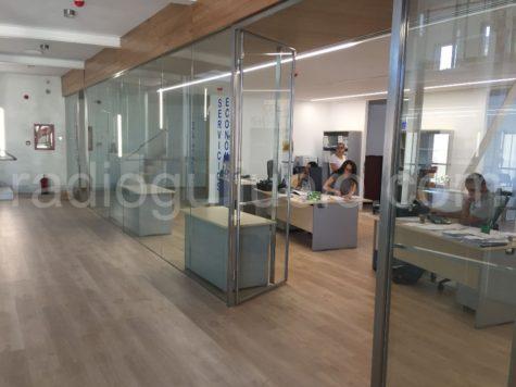 Interior del nuevo Ayuntamiento de Guijuelo.