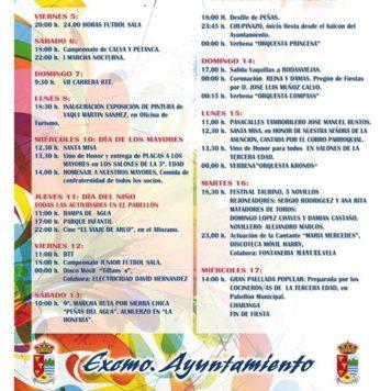 Programa fiestas Linares