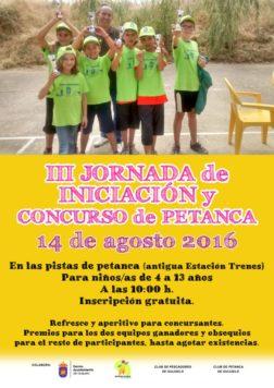 cartel III jornada iniciación petanca