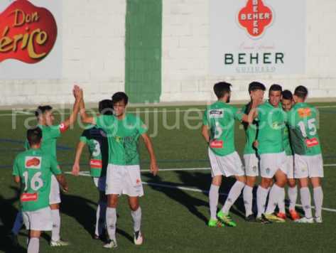 Celebración del tercer gol, obra de Antonio.