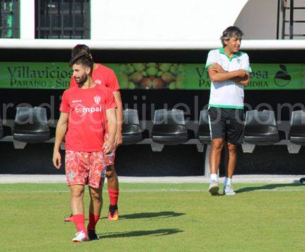 Néstor Gordillo y Mateo García en Villaviciosa.