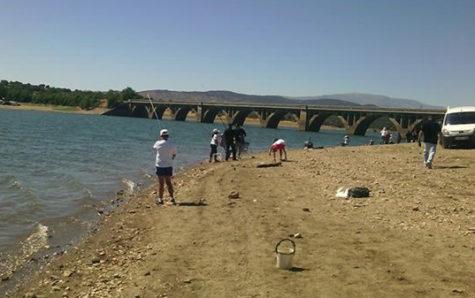 Pescadores en el rio Tormes.