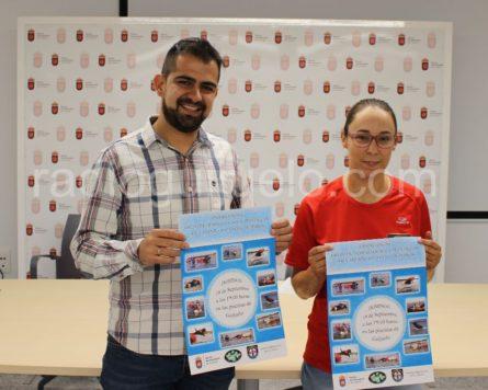 Presentación del evento de Triever-can en la sala polivalente del Ayuntamiento de Guijuelo.