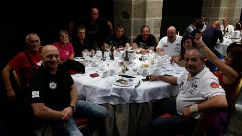 Miembros del Moto Club Pata Negra de Guijuelo en el Spa Hospedería Sierra de Gata. Foto Moto Club