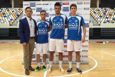Manco Mandado en la presentación con su nuevo equipo. Foto Marco Mandado