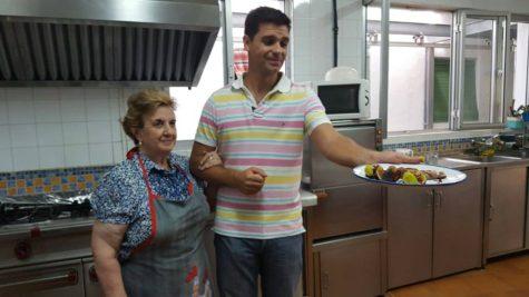 El cocinero Sergio Fernández en Cespedosa. Foto Faustino Prieto.