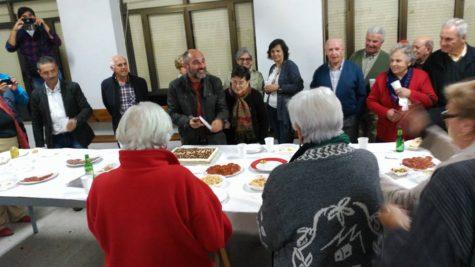 Fiesta de despedia del párroco Alfonso Masa. Foto De  Fuentes de Béjar Salao.