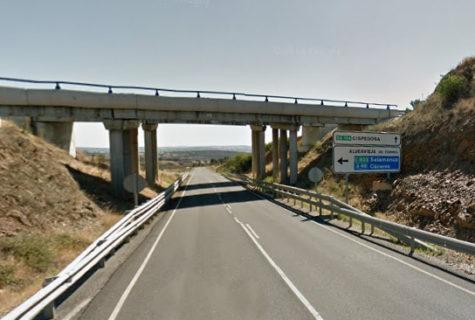 Carretera SA-104. Foto Google Maps