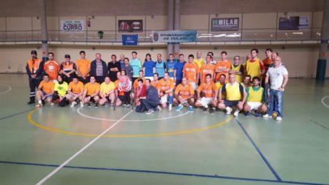Participantes del partido solidario 'Goles por Nerea'