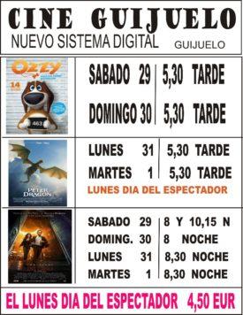 Cartelera cine puente de Los Santos