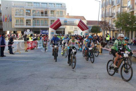 Participantes en la I Jamountain Bike de Guijuelo