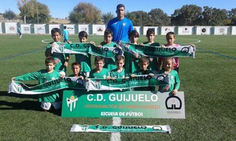 Equipo Benjamín A del C.D. Guijuelo. Foto Escuela Fútbol Guijuelo.