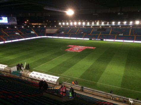 Estadio Helmantico antes de acoger el encuentro de Copa.