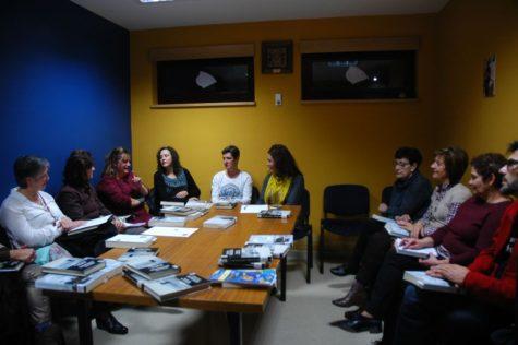 Miembros del club de lectura.