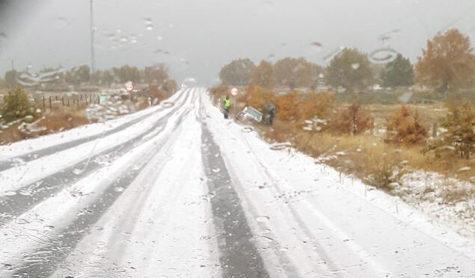 Nieve caída en Linares. Foto Tribuna