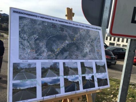 Mapa de las obras en la carretera DSA-252. Foto Diputación