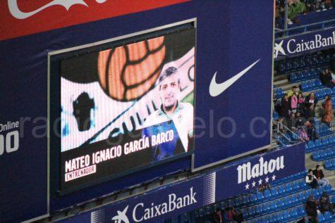 Mateo García en el videomarcador del Calderón